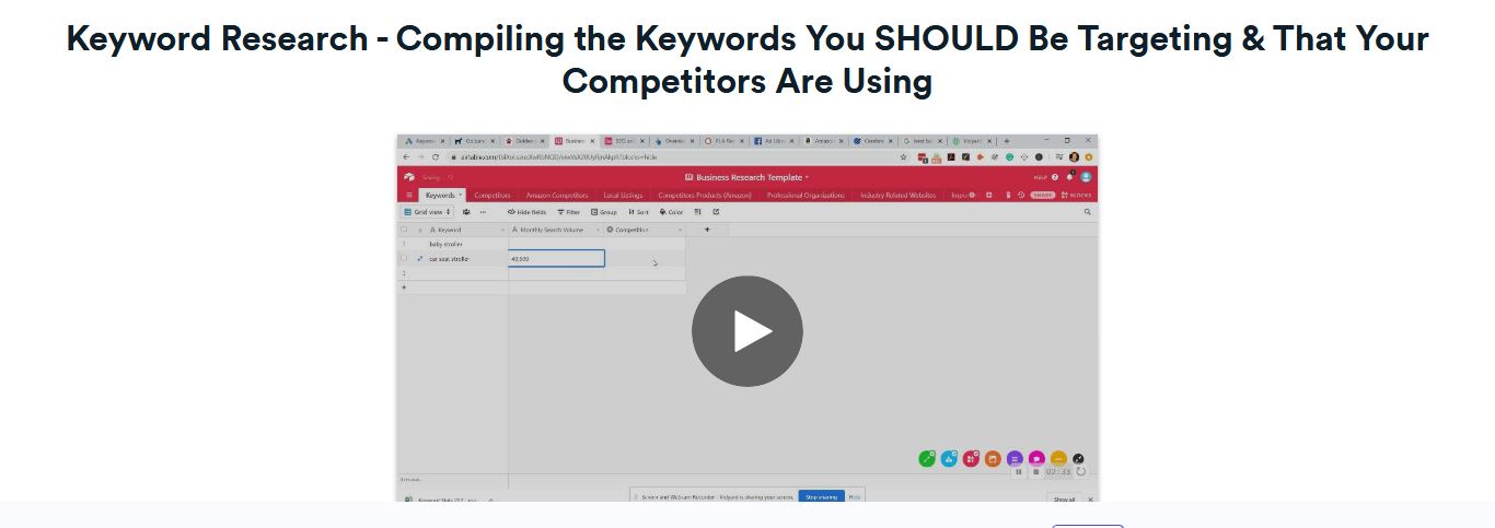 Keyword Research - Compiling the Keywords You SHOULD Be Targeting and That Your Competitors Are Using